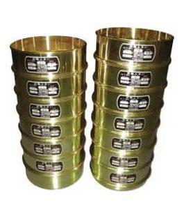 土質試験用標準篩 12種 蓋及び受皿付  G-401