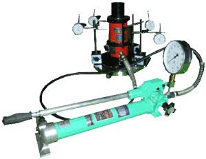 建築用地耐力測定装置・油圧式分離ジャッキ 球座付  S-223